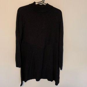 Style & Co Ribbed Mock-Neck Tunic Length Sweater